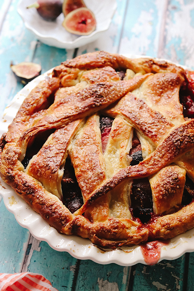 Spiced Plum Fig Pie