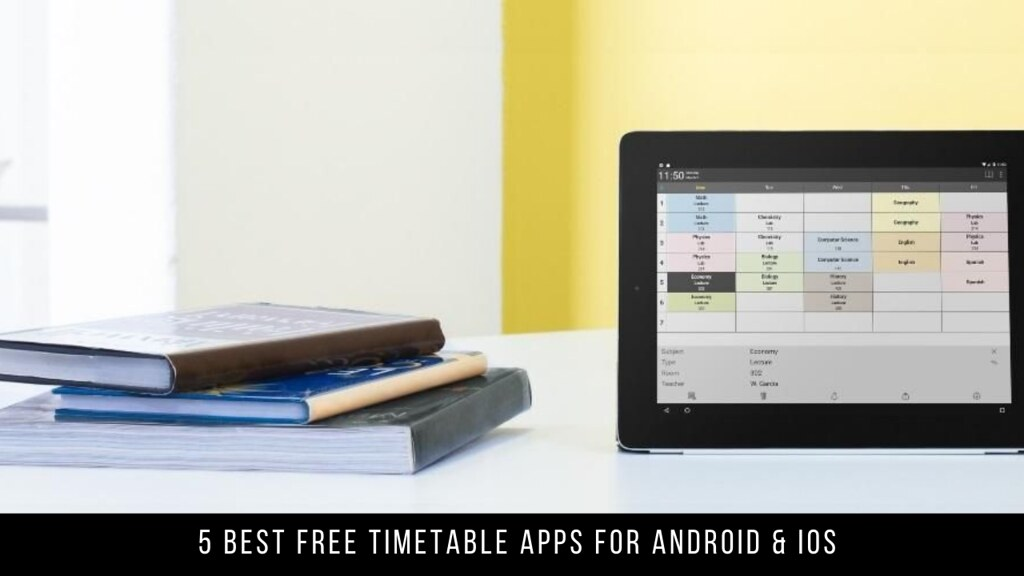 5 Best Free Timetable Apps For Android & iOS