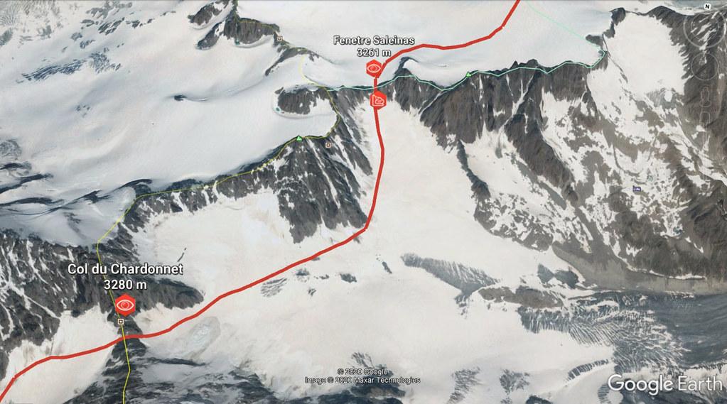 Fenêtre Saleinaz,Day1 H.R. Chamonix-Zermatt Massif Mont Blanc Frankreich foto 02