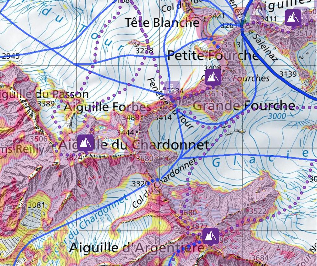 Fenêtre Saleinaz,Day1 H.R. Chamonix-Zermatt Massif Mont Blanc Frankreich foto 04
