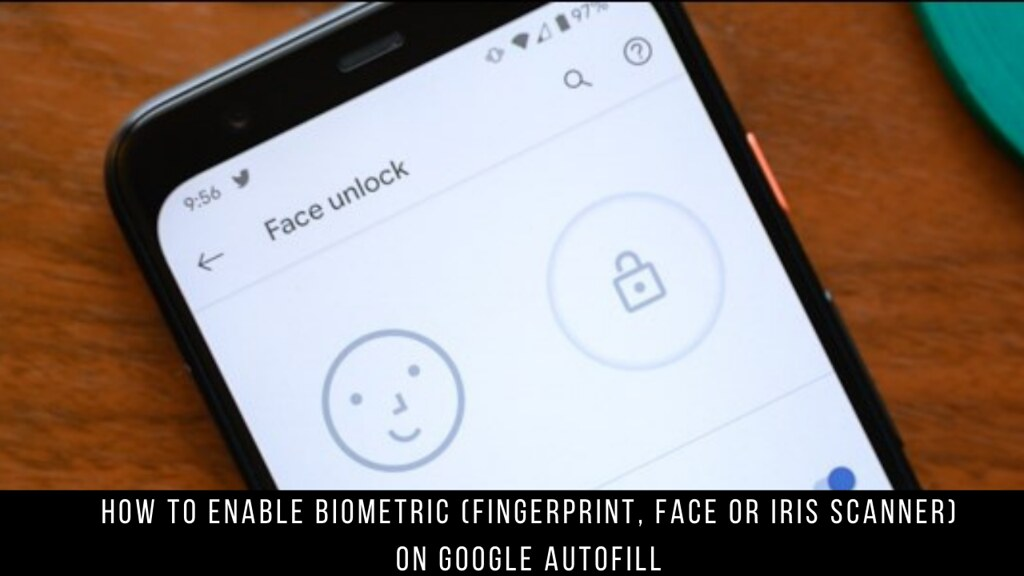 How to Enable Biometric (Fingerprint, Face or Iris Scanner) on Google Autofill