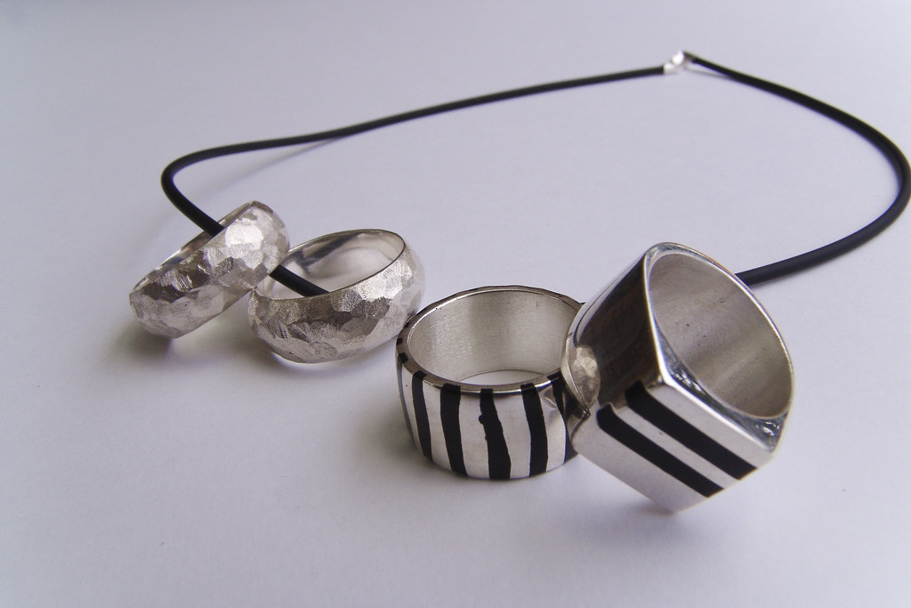 silver - resin rings