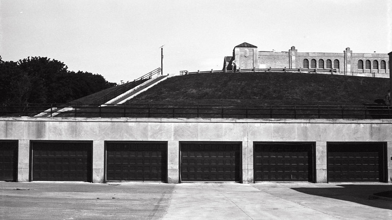 Garages at RC Harris August 2020