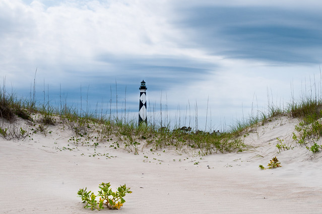 DUNES AND CAPE LOOKOUT LIGHTHOUSE