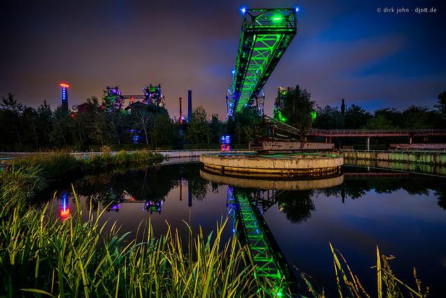 LaPaDu at night - Duisburg, Germany