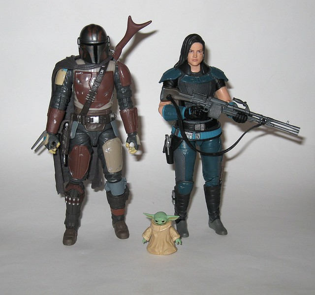 the child with the mandalorian 94 and cara dune 101 star wars the black series 6 inch basic action figures the mandalorian hasbro 2020