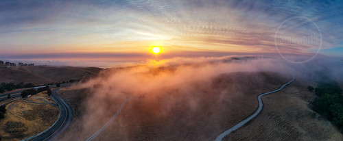 dennis stanworth sunrise panorama hills fog east bay sky dramatic highway 4 cummings skyway martinez ebparksok ultra wide angle lens landscape from above beautiful franklin ridge christie northern california