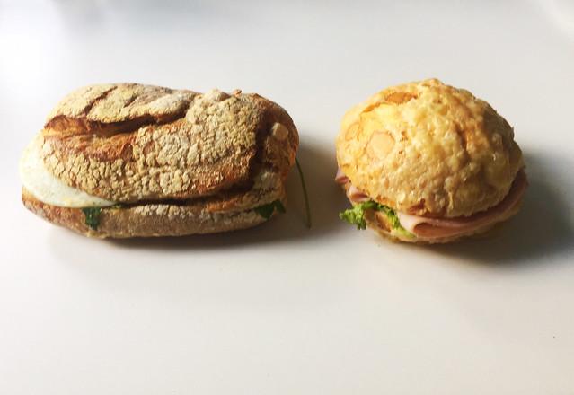 Egg bun & Cheesebun with ham / Eierbrötchen & Käsebrötchen mit Schinken