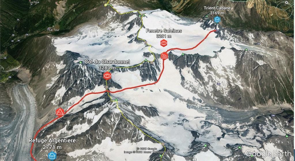 Fenêtre Saleinaz,Day1 H.R. Chamonix-Zermatt Massif Mont Blanc Frankreich foto 01