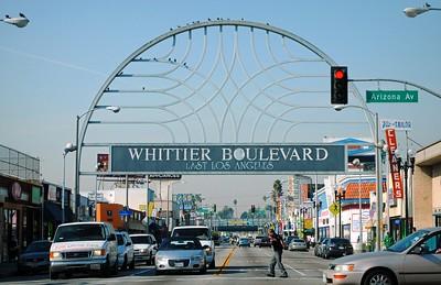 Whittier Boulevard gateway signage, East Los Angeles