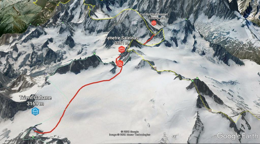 Fenêtre Saleinaz,Day1 H.R. Chamonix-Zermatt Massif Mont Blanc Frankreich foto 03