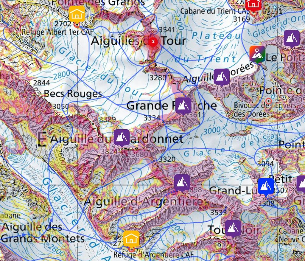 Fenêtre Saleinaz,Day1 H.R. Chamonix-Zermatt Massif Mont Blanc Frankreich foto 05