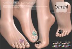 •Gemini -Naty Toe Rings- Fatpack GIFT•