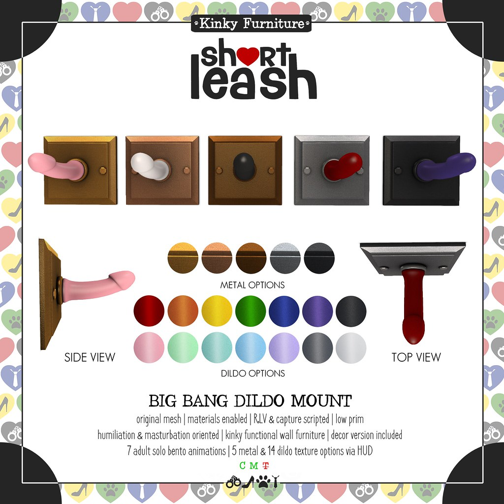 .:Short Leash:. Big Bang Dildo Mount