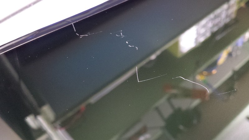 Scratch on LCD Laptop Screen