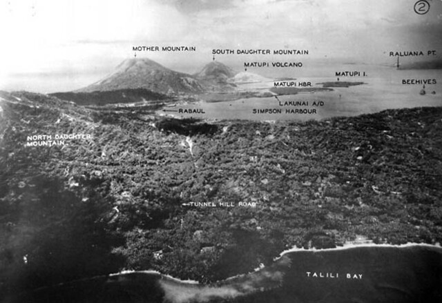 Recon photo of the Rabaul area