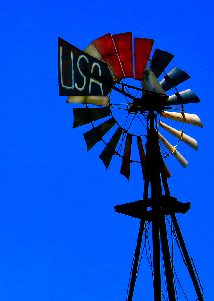 patriotic windmill