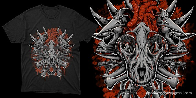 BONE EXPOSE - ARTWORK FOR SALE, T-SHIRT DESIGN FOR METAL BAND OR CLOTHING BRAND