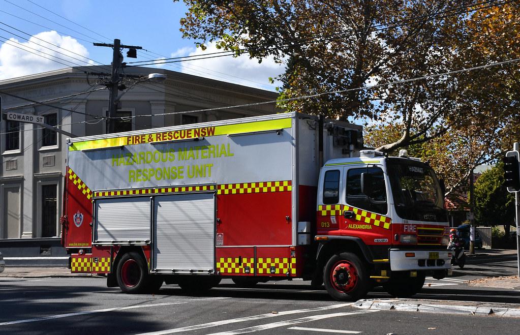 Hazardous Material Unit, Fire Brigade, Mascot, Sydney, NSW.