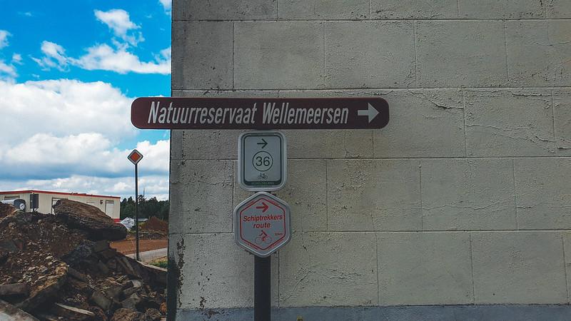 bordje naar Natuurreservaat Wellemeersen