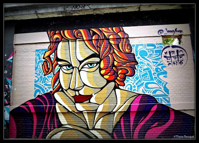 Mur peint dans l'espace Darwin de Bordeaux