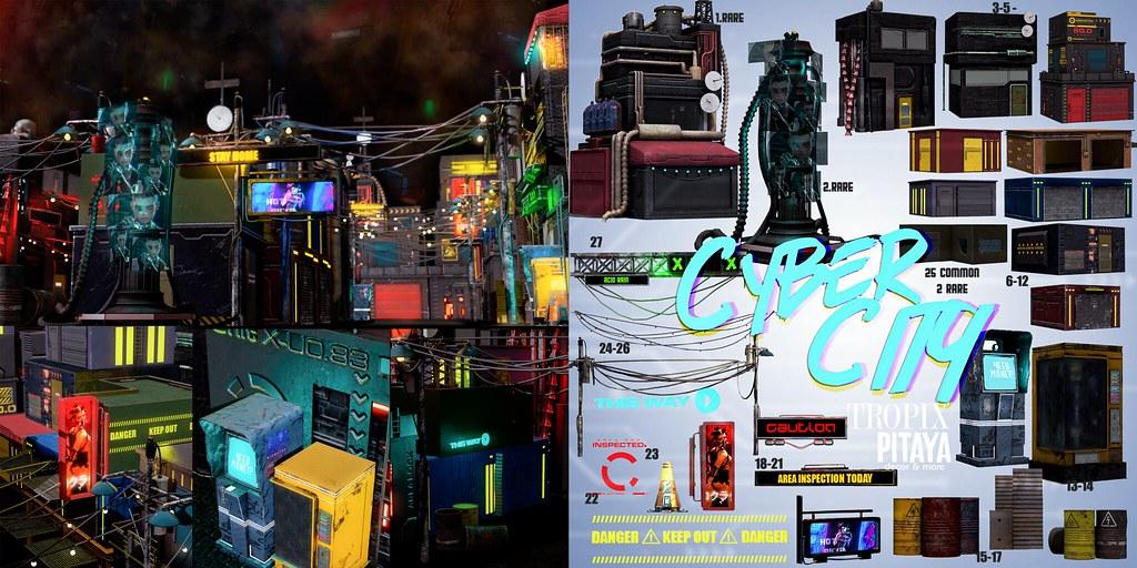 PITAYAxTROPIX //Cyber City Gacha Set