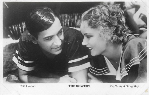 Fay Way and George Raft in The Bowery (1933)
