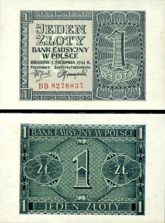 1 Zloty Poľsko 1941, P99