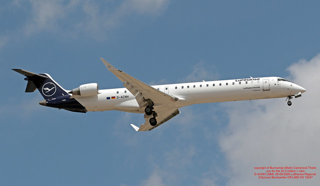 D-ACNH LMML 05-09-2020 Lufthansa Regional (CityLine) Bombardier CRJ-900 CN 15247