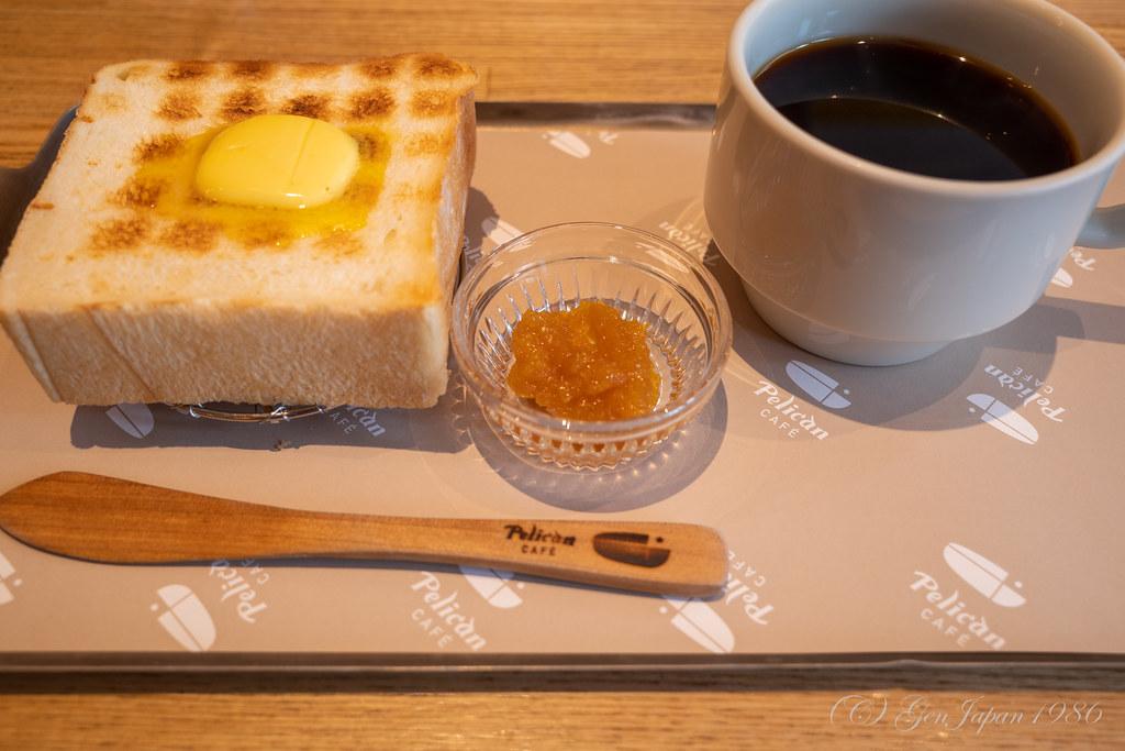 ペリカンカフェ 炭焼きトーストセット