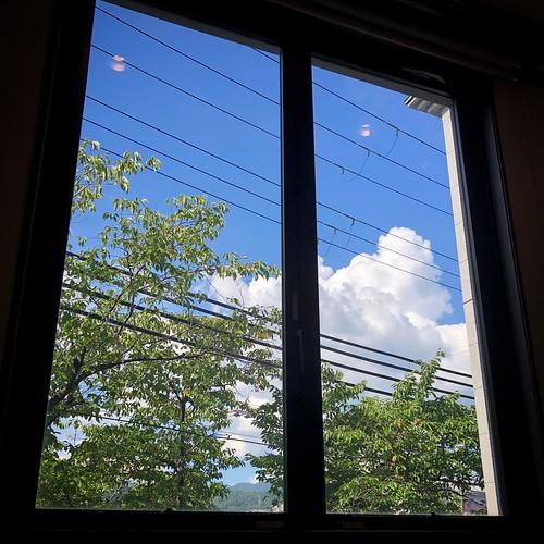 絵画のような窓だった。 「電線が無ければ、、、」と言われそうな写真かもしれないけど、あたしには五線譜やTAB譜に見えているので、美しいと思うものは普遍。