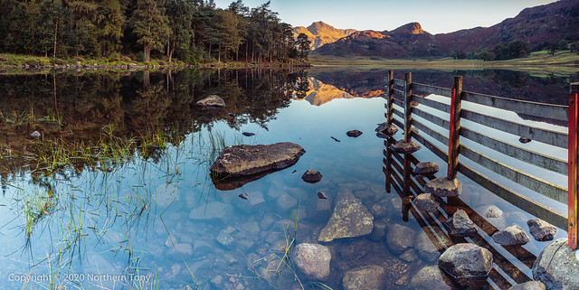 Blea Tarn and Langdale Pikes 3 shot pano