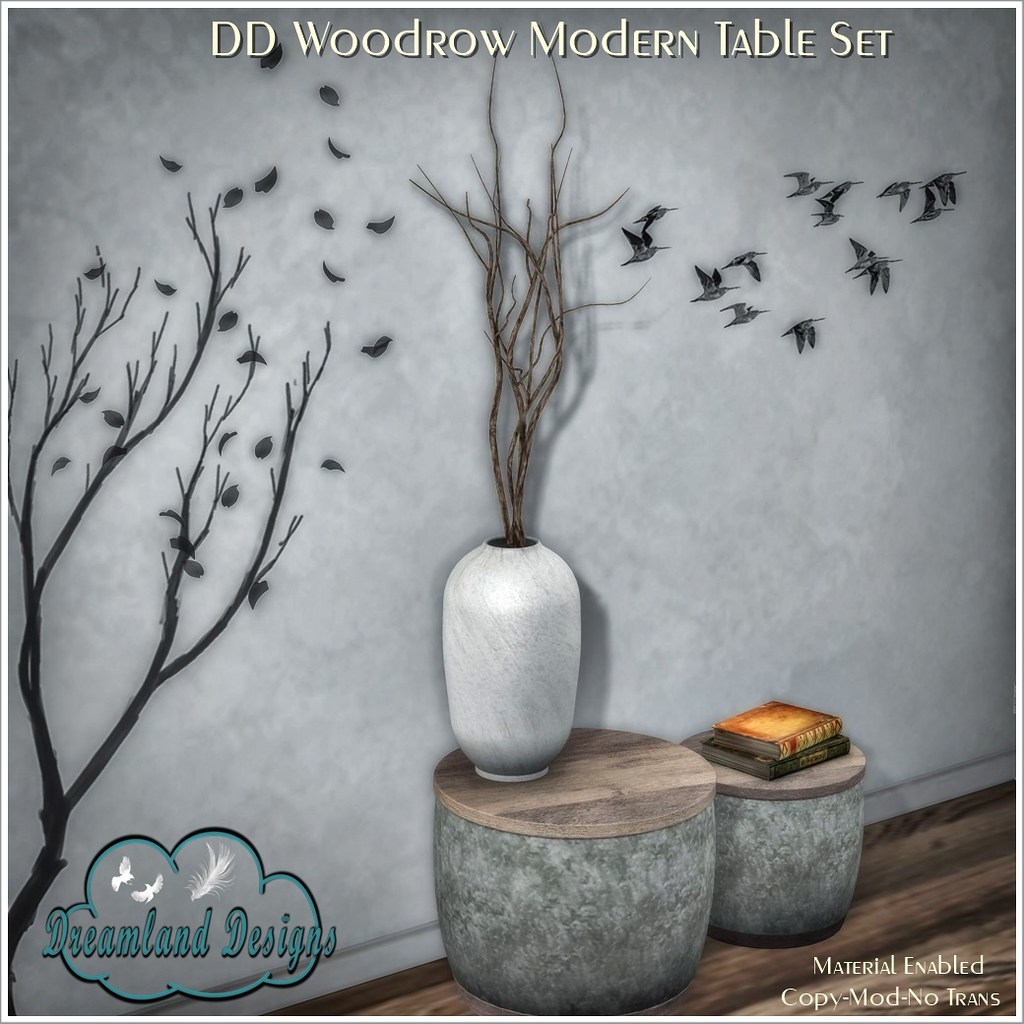 DD Woodrow Modern Table Set AD