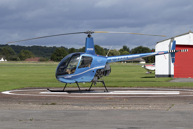 Austin Aviation Robinson R22 G-VVBR at Wolverhampton Halfpenny Green Airport EGBO