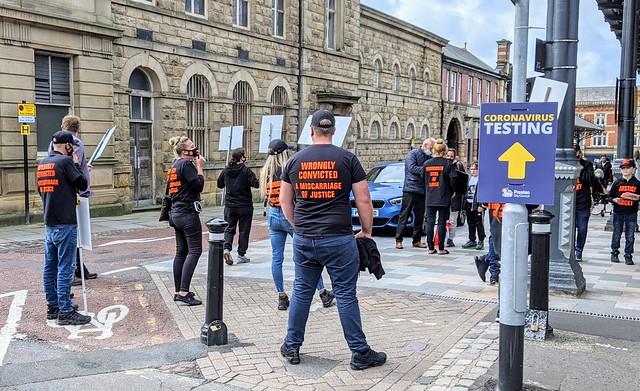 Protesters in Preston today