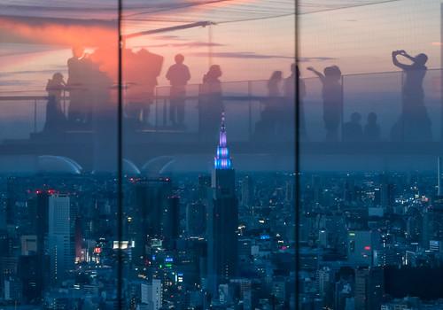 sunset 屋上展望台 twilight shibuyascramblesquare shibuya rooftop observatory tokyo explore docomotower nttドコモタワー