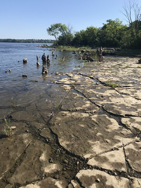 Rock sculptures along the Ottawa River