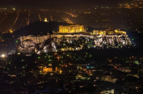 acropolis athens mountlycabettus