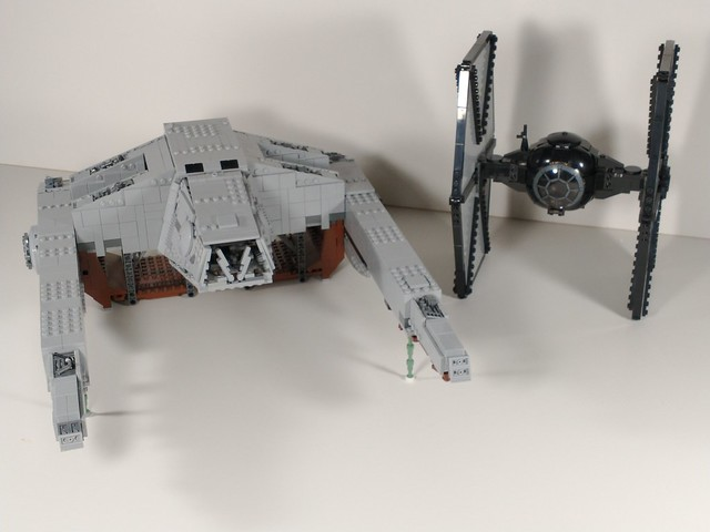 Lego star wars minifig scale at hauler plus first order tie fighter