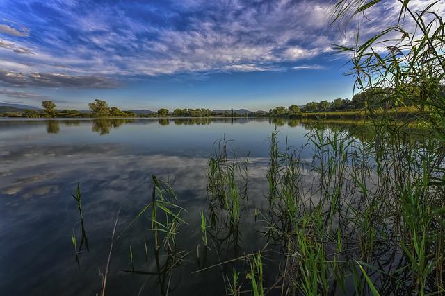 ... tramonto nella riserva naturale dei laghi (01) ...