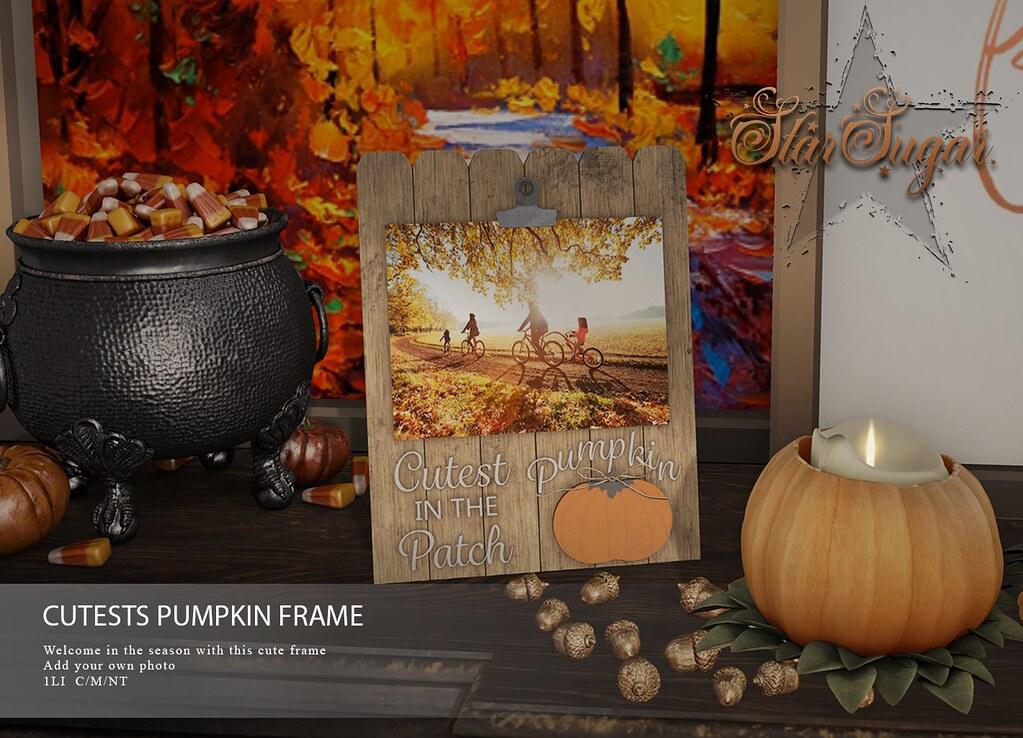 Cute pumpkin patch frame