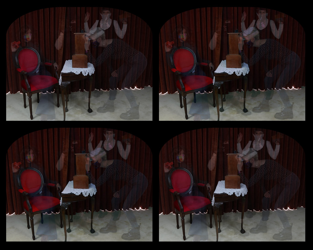 4 ghosts parallel cross stereoview