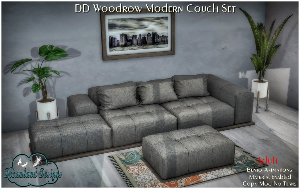 DD Woodrow Modern Couch Adult AD