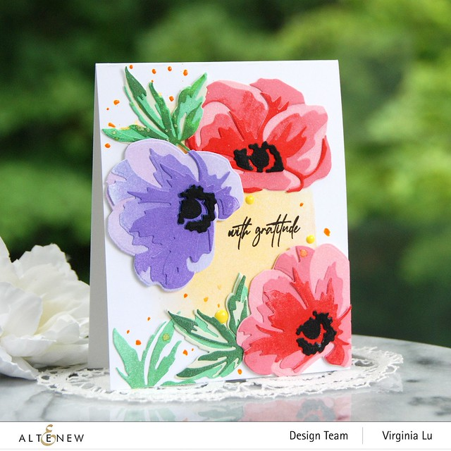 Altenew-CAF Anemone-Fragile Foliage Stamp Set