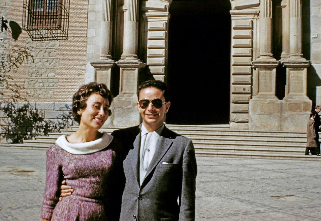 Joseph Jacobson y María del Carmen Rivero Hernández en octubre o noviembre de 1960. Álbum familiar.