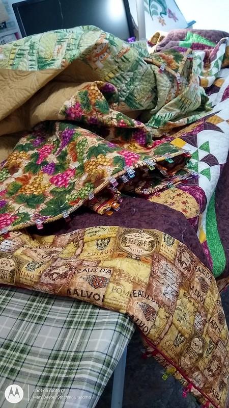 manhandling a large quilt