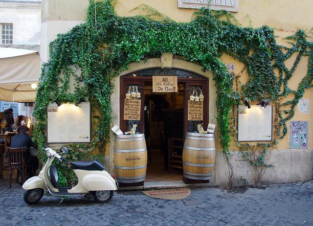 Osteria a Roma quartiere Trastevere