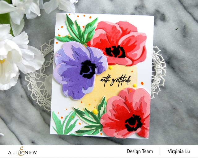 Altenew-CAF Anemone-Fragile Foliage Stamp Set-003
