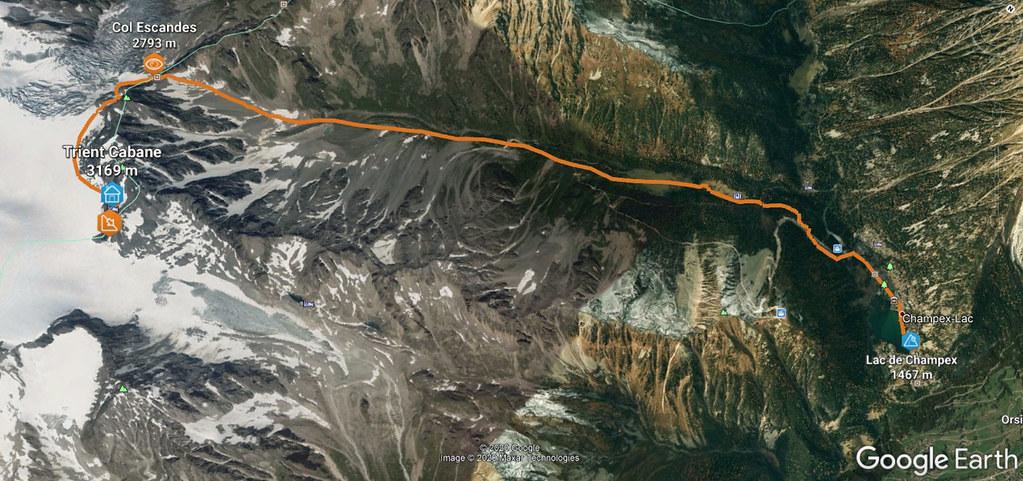 Val Arpette (Day2, H.R. Chamonix-Zermatt) Walliser Alpen / Alpes valaisannes Švýcarsko foto 02