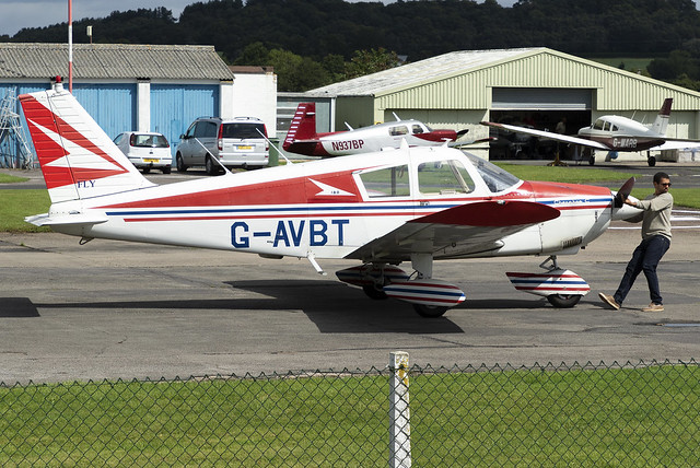 Private PA-28 G-AVBT at Wolverhampton Halfpenny Green Airport EGBO